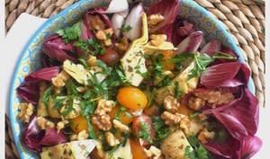 Salade d'endives rouges carmine