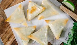 Samoussa aux légumes et épices indiennes
