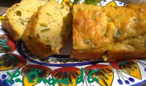 Cake salé courgettes amandes