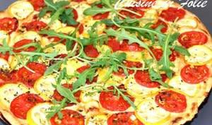 Tarte fine tomate et courgette