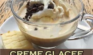 Crème glacée au yaourt et au café
