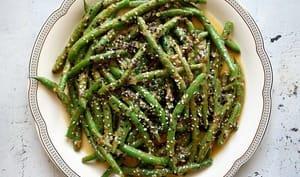 Haricots verts poêlés aux deux sésames