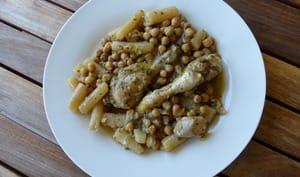 Tajine de poulet aux pois chiches et salsifis