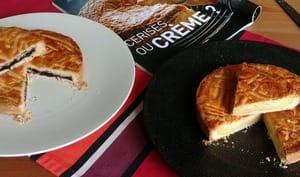 Gâteau basque cerise et crème