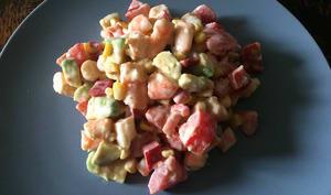 Salade fraîche aux crevettes