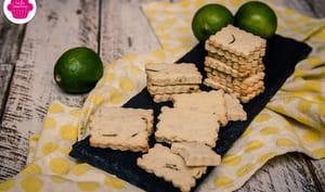 Biscuits au citron vert et aux amandes