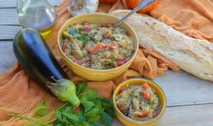 Salade d'aubergines à la marocaine