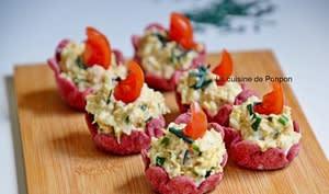 Amuse bouche à la salade de thon