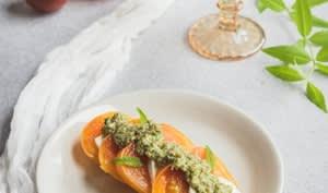 Tomates au pesto de verveine citronnelle