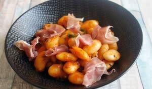 Haricots blancs jambon sauce poivron