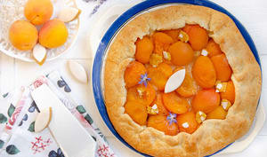 Tarte rustique abricots calissons