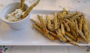 Frites de courgettes