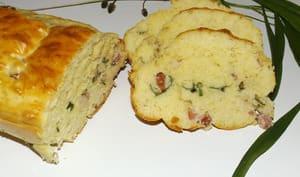 Cake au plantain et aux lardons