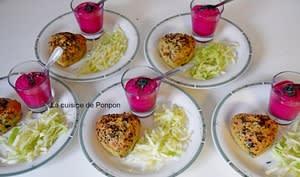 Muffin aux fanes de betteraves rouges