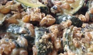 Petit épeautre aux courgettes, champignons et curry