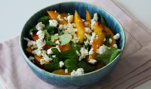 Salade nectarine feta