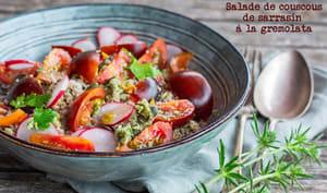 Salade de couscous de sarrasin à la gremolata
