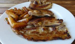 Plancha de poitrine de porc au sirop d'érable