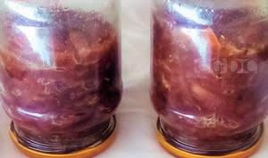 Confit d'oignons rouges en conserve