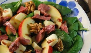 Salade d'automne aux épinards et gésiers