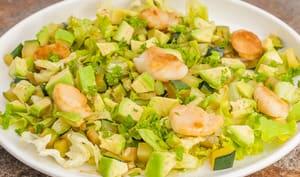 Salade de courgettes aux saint jacques