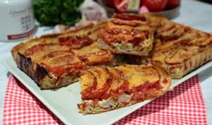 Tarte à la tomate et chair à saucisse façon tomates farcies