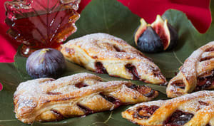Feuilletés en jalousie aux figues confites au sirop d'érable