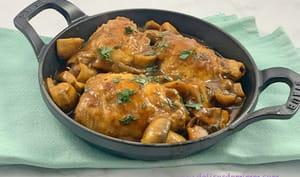 Hauts de cuisses de poulet façon chasseur