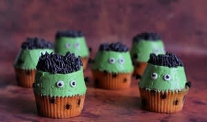 Cupcakes Frankenstein