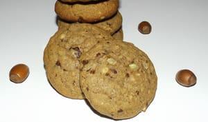 Cookies noisettes, sarrasin et chocolat