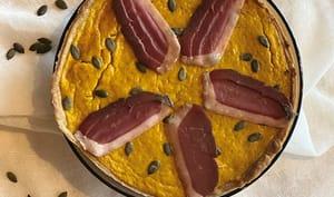 Tarte salée à la courge butternut magret séché épices à pain d'épices