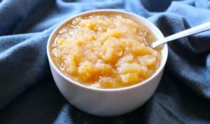Compote de pommes à la cannelle et au gingembre