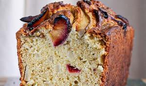 Cake aux poires et aux prunes