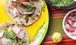 Tacos au sarrasin et à l'andouille de Guémené