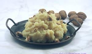 Stoemp aux panais, pommes et noix panais