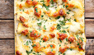Lasagnes courge et champignons