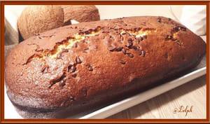 Cake au lait concentré , noix de coco et chocolat