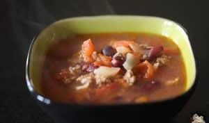 Soupe aux haricots rouges façon chili