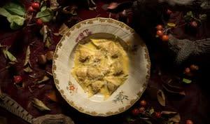 Tortelli de courge de Mantoue aux amaretti et à la mostarda