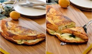 Omelette soufflée à la mozzarella et gremolata
