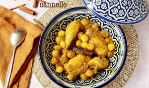 Tajine poulet, oignons et cannelle