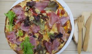 Pizza au jambon de Parme et tomates séchées