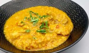 Curry de poulet aux lentilles