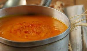 Velouté de potimarron à la cardamome et au curry