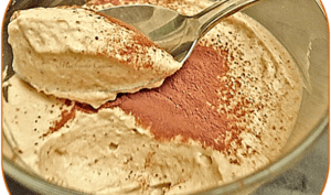 Crème mousseuse au café