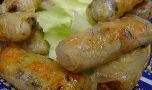 Nems au poulet et crevettes