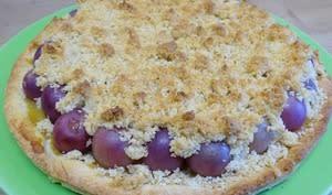 Tarte crumble au raisin noir