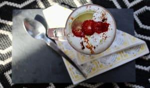 Cappuccino épicé aux framboises