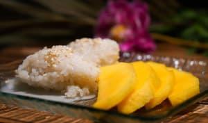 Mango sticky rice ou riz gluant à la mangue