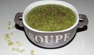 Soupe aux orties, oseille et plantain lancéolé et flageolets